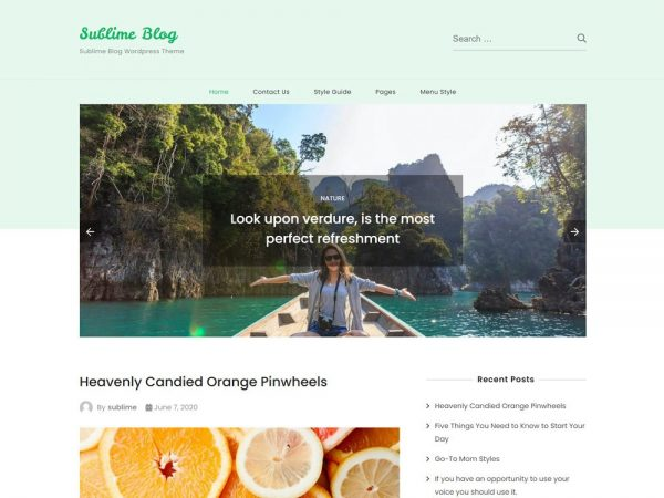 Sublime Blog free WordPress Theme