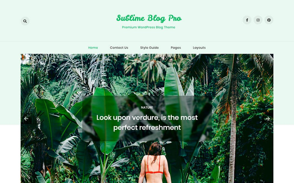 Premium WordPress Blog Theme - Sublime Blog Pro