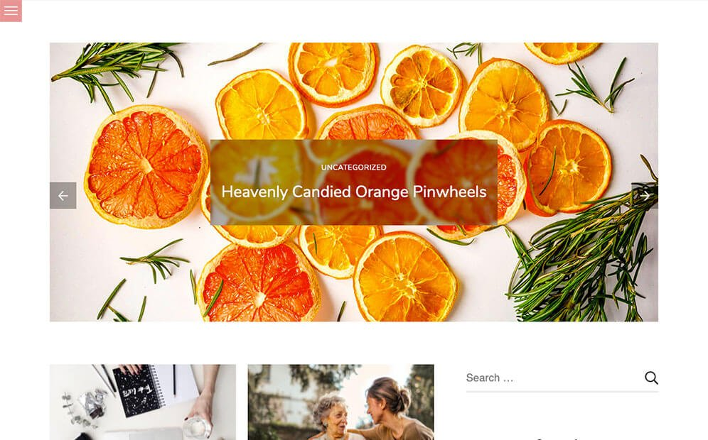 Free WordPress Theme Sublime Blogger Desktop Preview