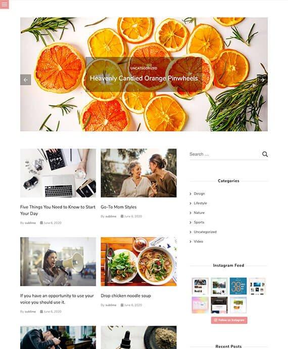 Free WordPress Theme - Sublime Blogger Preview Thumbnail